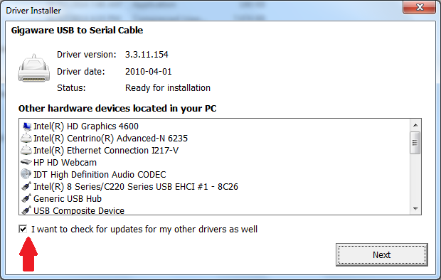 GIGAWARE RADIO SHACK USB SERIAL DRIVER WINDOWS